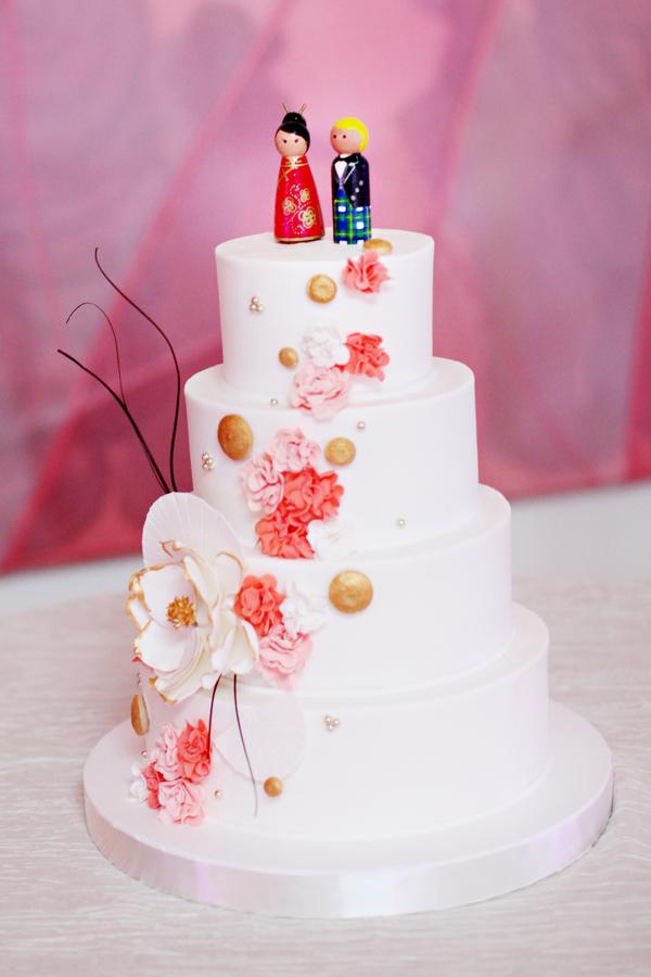 Japanese Inspired White Wedding Cake Elizabeth Anne