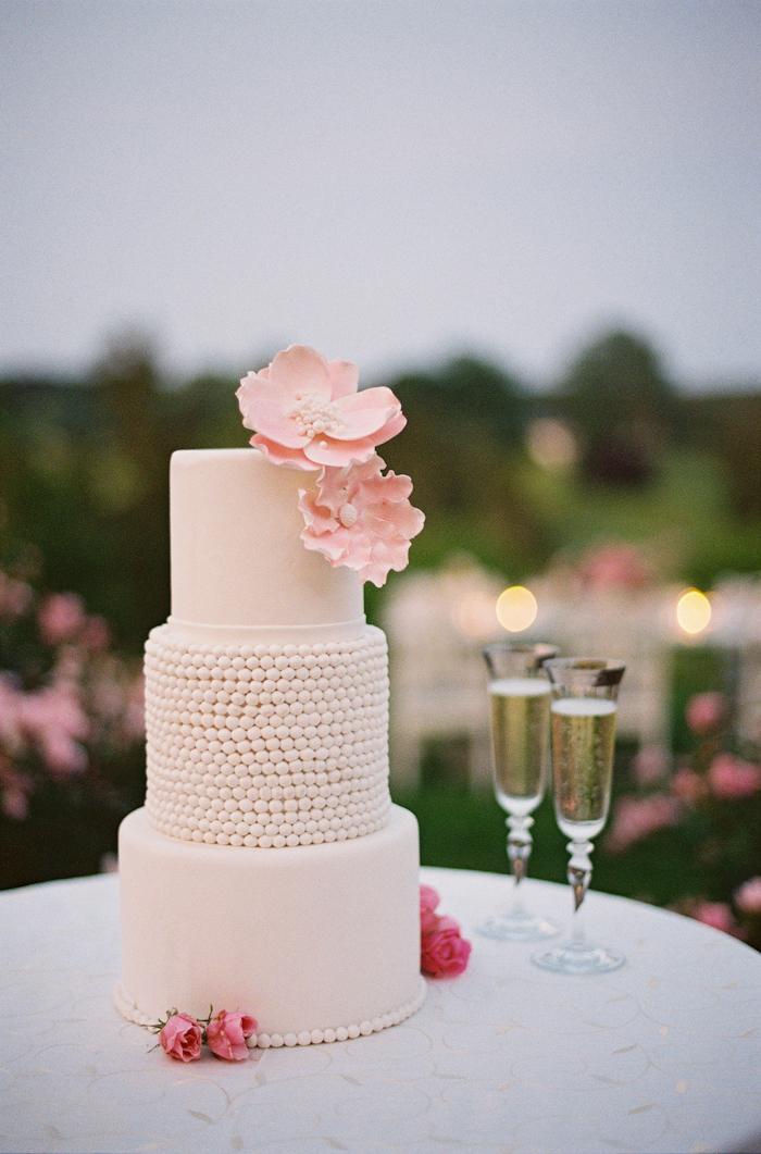 Three Tier Wedding Cake With Pink Sugar Flowers  Elizabeth Anne Designs The Wedding Blog