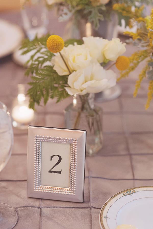 Reception Table Number in Silver Frame  Elizabeth Anne