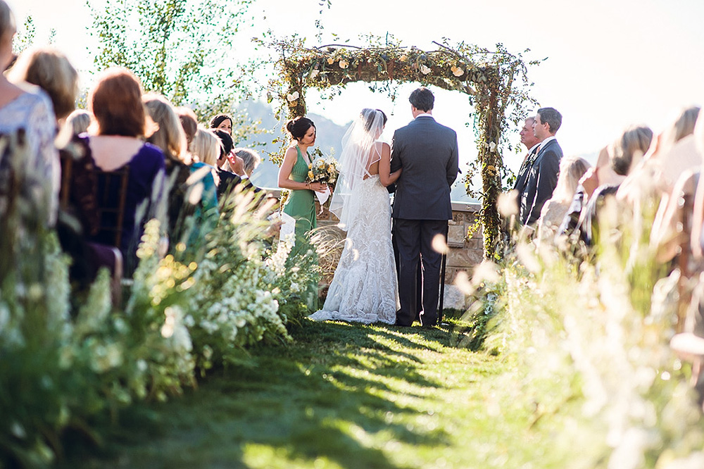 Elegant Outdoor Wedding Ceremony Aisle Elizabeth Anne