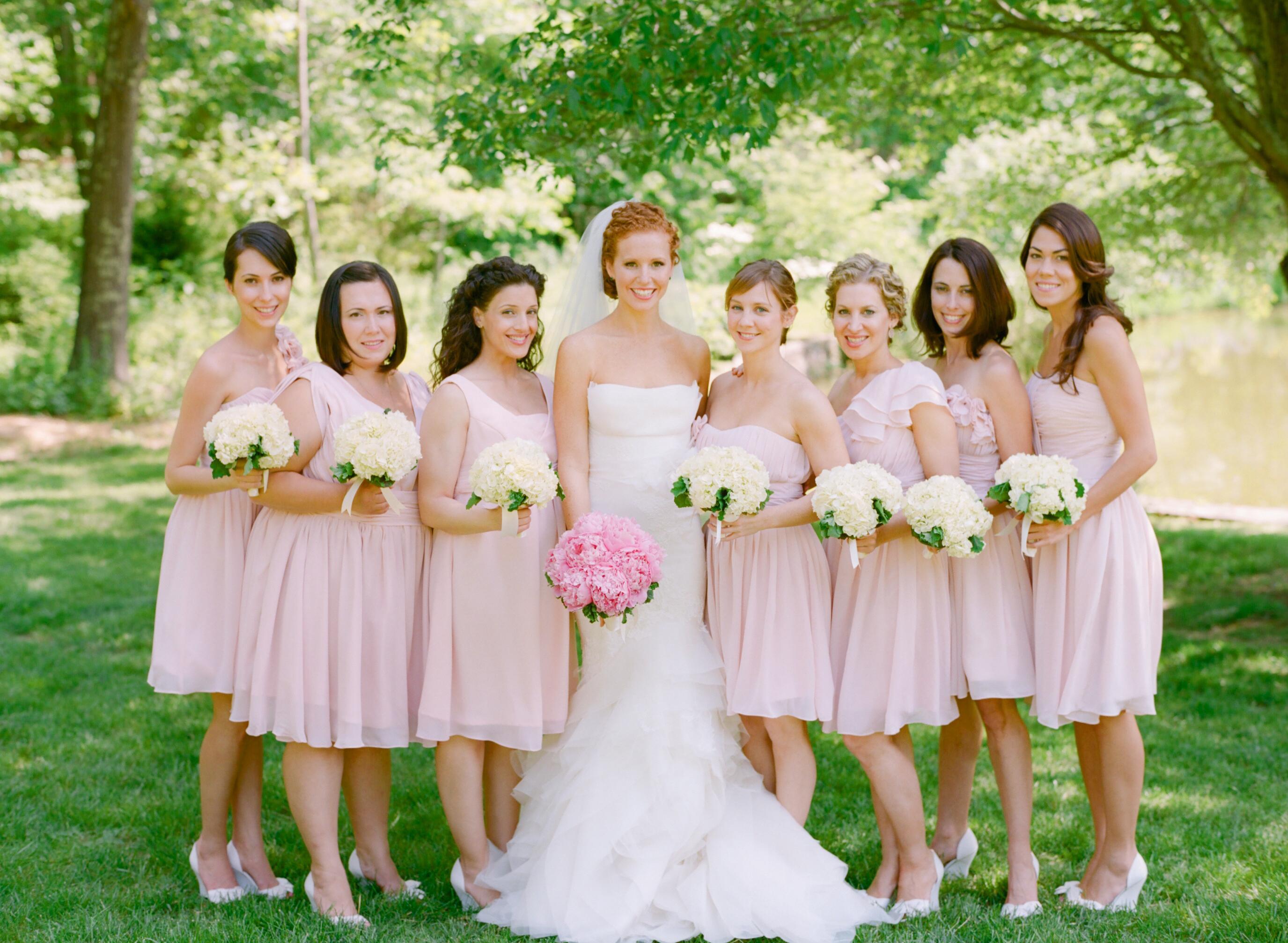 Short Pale Pink Bridesmaids Dresses  Elizabeth Anne