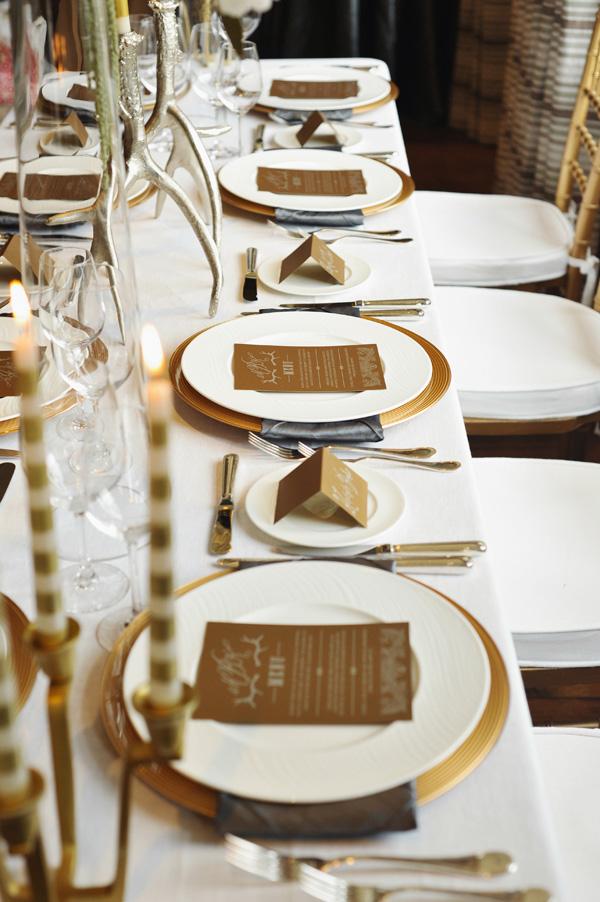 Gold And Cream Reception Table Decor Elizabeth Anne