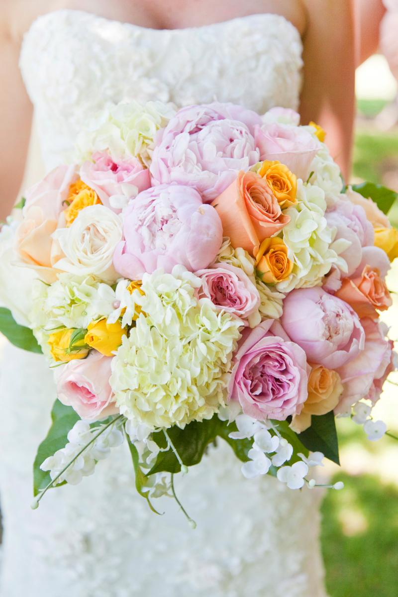 Rose Peony and Hydrangea Bouquet  Elizabeth Anne Designs