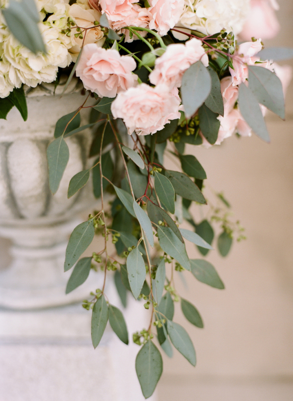 Pink and Cream Flowers With Greenery  Elizabeth Anne