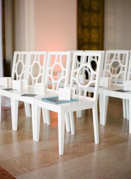 Modern Wedding Ceremony Chairs  Elizabeth Anne Designs
