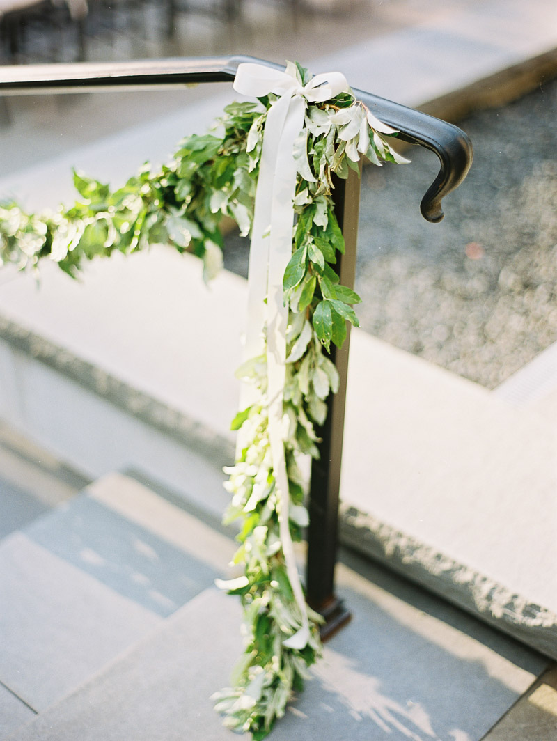Greenery Garland on Stair Railing  Elizabeth Anne Designs