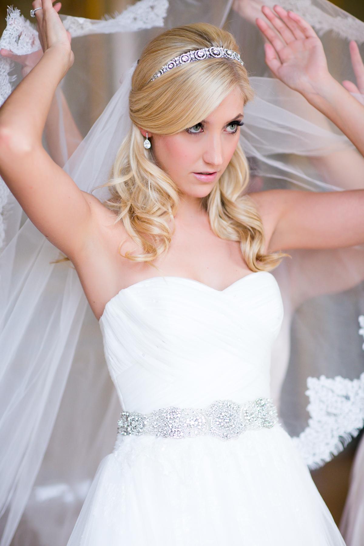 Beaded Art Deco Headband Bridal Hair Accessories  Elizabeth Anne Designs The Wedding Blog