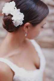 braided chignon bridal hair ideas