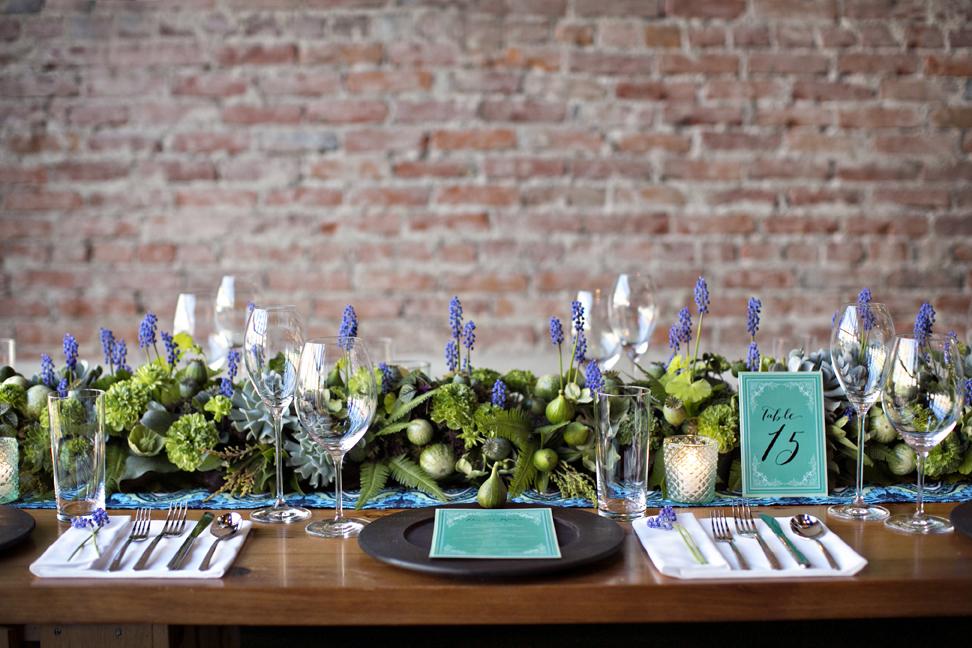 Lavender And Succulent Garland Centerpiece Elizabeth
