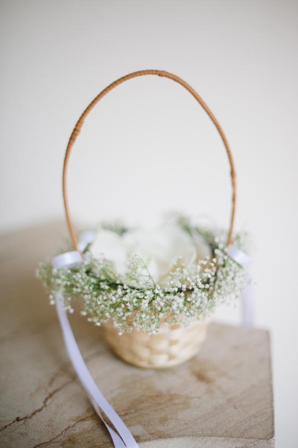 Flower Girl Basket with Babys Breath  Elizabeth Anne Designs The Wedding Blog