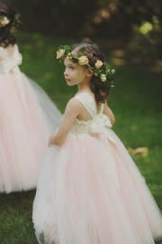 flower girl hair wreath - elizabeth