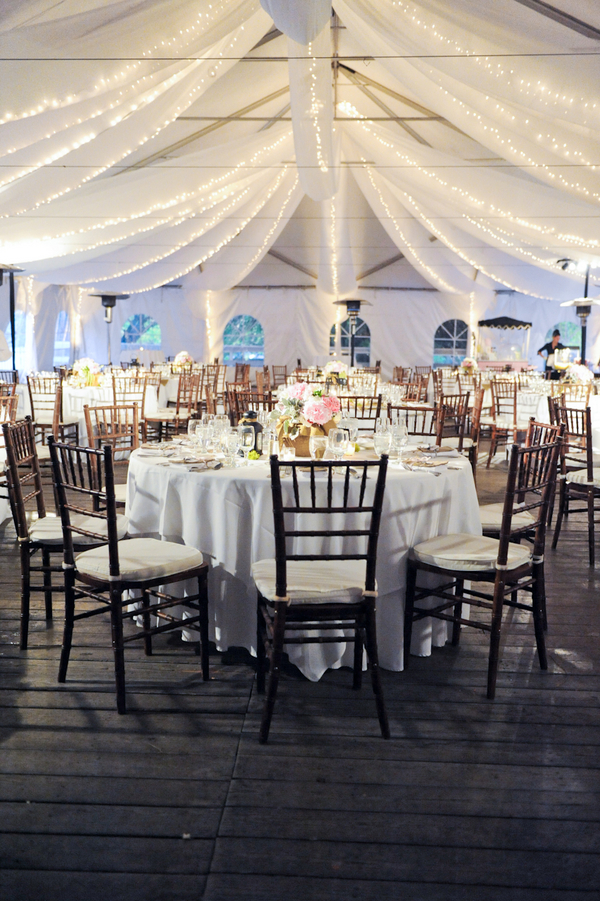 Pretty Tent Wedding Reception  Elizabeth Anne Designs