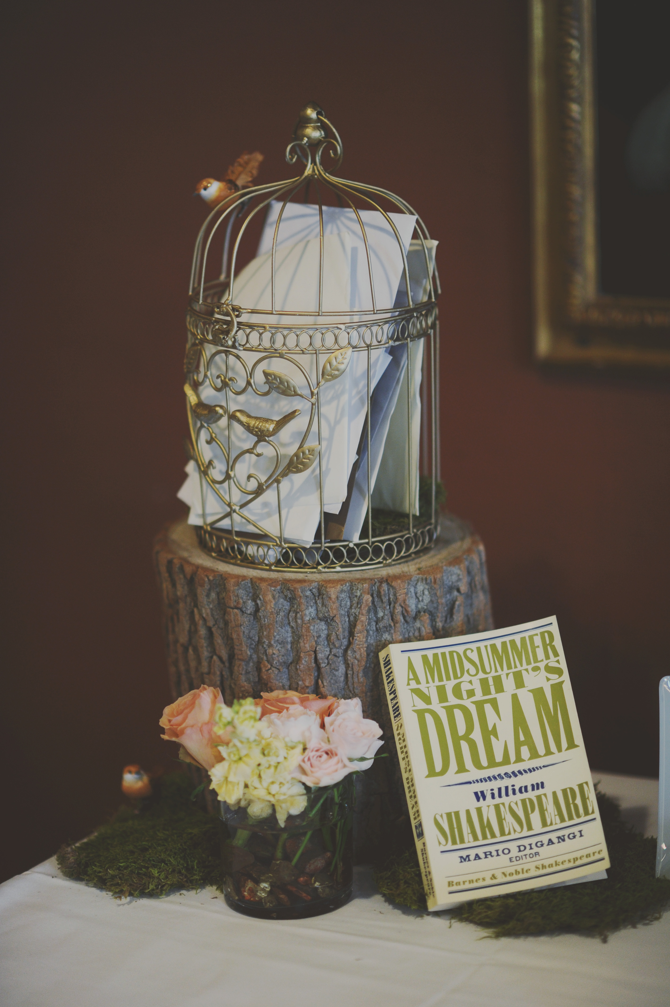 Shakespeare Themed Wedding Guest Table Elizabeth Anne