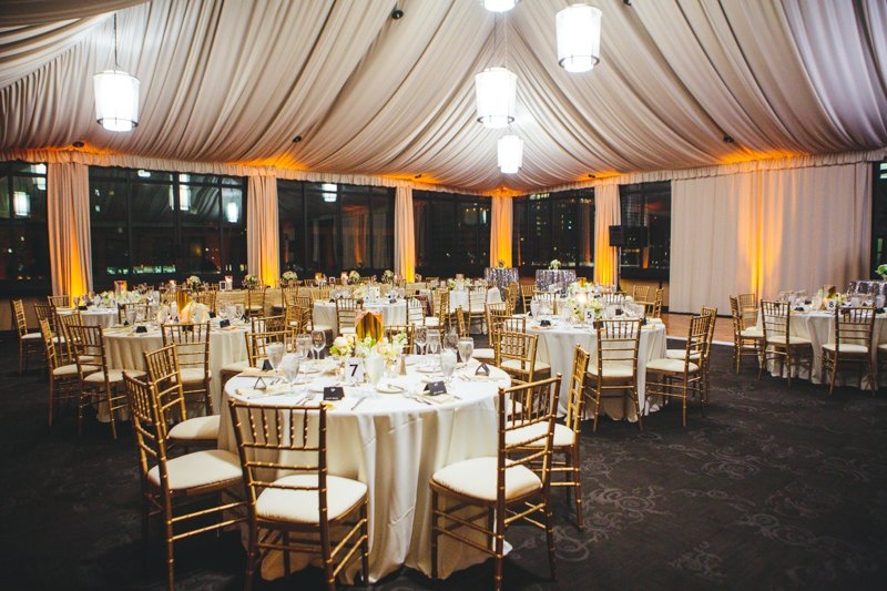Gold and Black Wedding Reception  Elizabeth Anne Designs