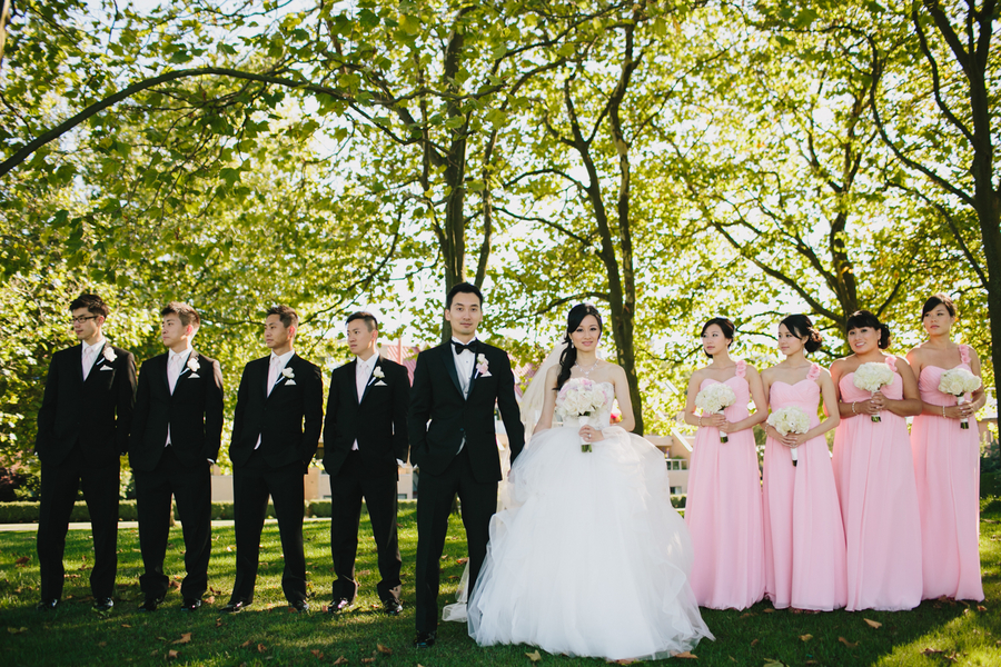 Pink and Black Wedding Party  Elizabeth Anne Designs The
