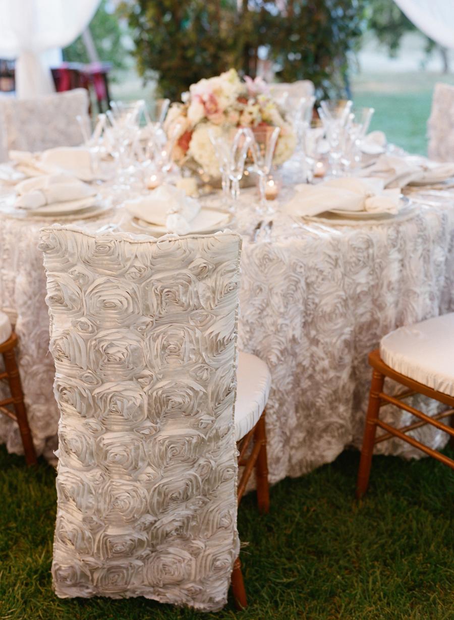 White Rosette Chair Covers  Elizabeth Anne Designs The