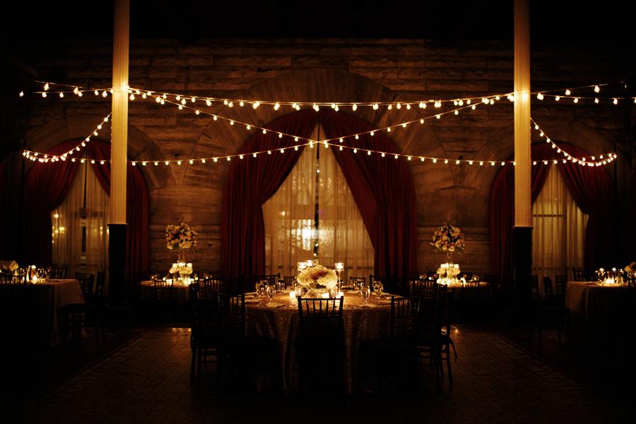 Cafe String Lights Reception Decor  Elizabeth Anne