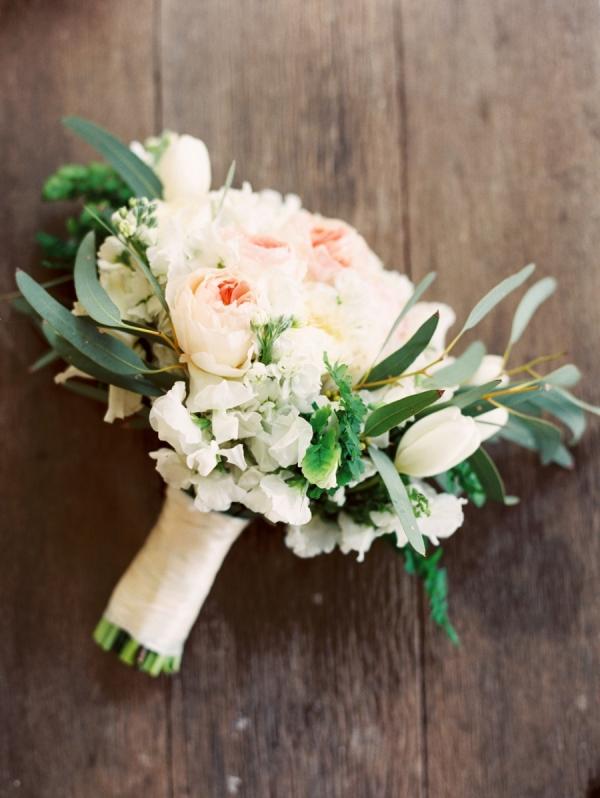 Greenery And Rose Bridal Bouquet Elizabeth Anne Designs