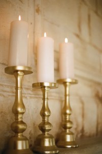 Gold Pillar Candle Holders - Elizabeth Anne Designs: The ...