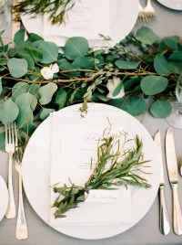 Herb and Greenery Wedding Place Setting - Elizabeth Anne ...
