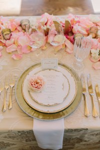 Pink and Gold Place Setting - Elizabeth Anne Designs: The ...