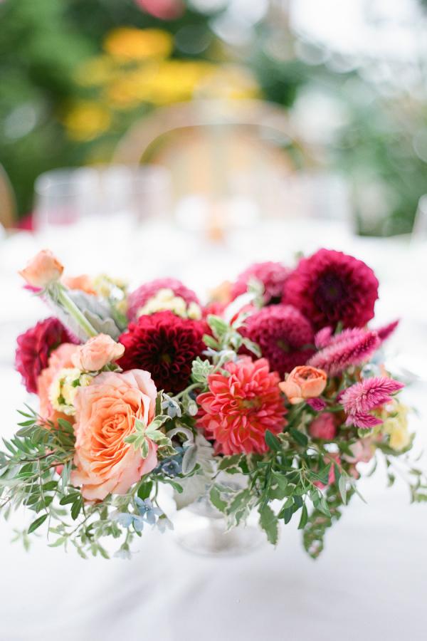 Burgundy and Peach Wedding Flowers  Elizabeth Anne