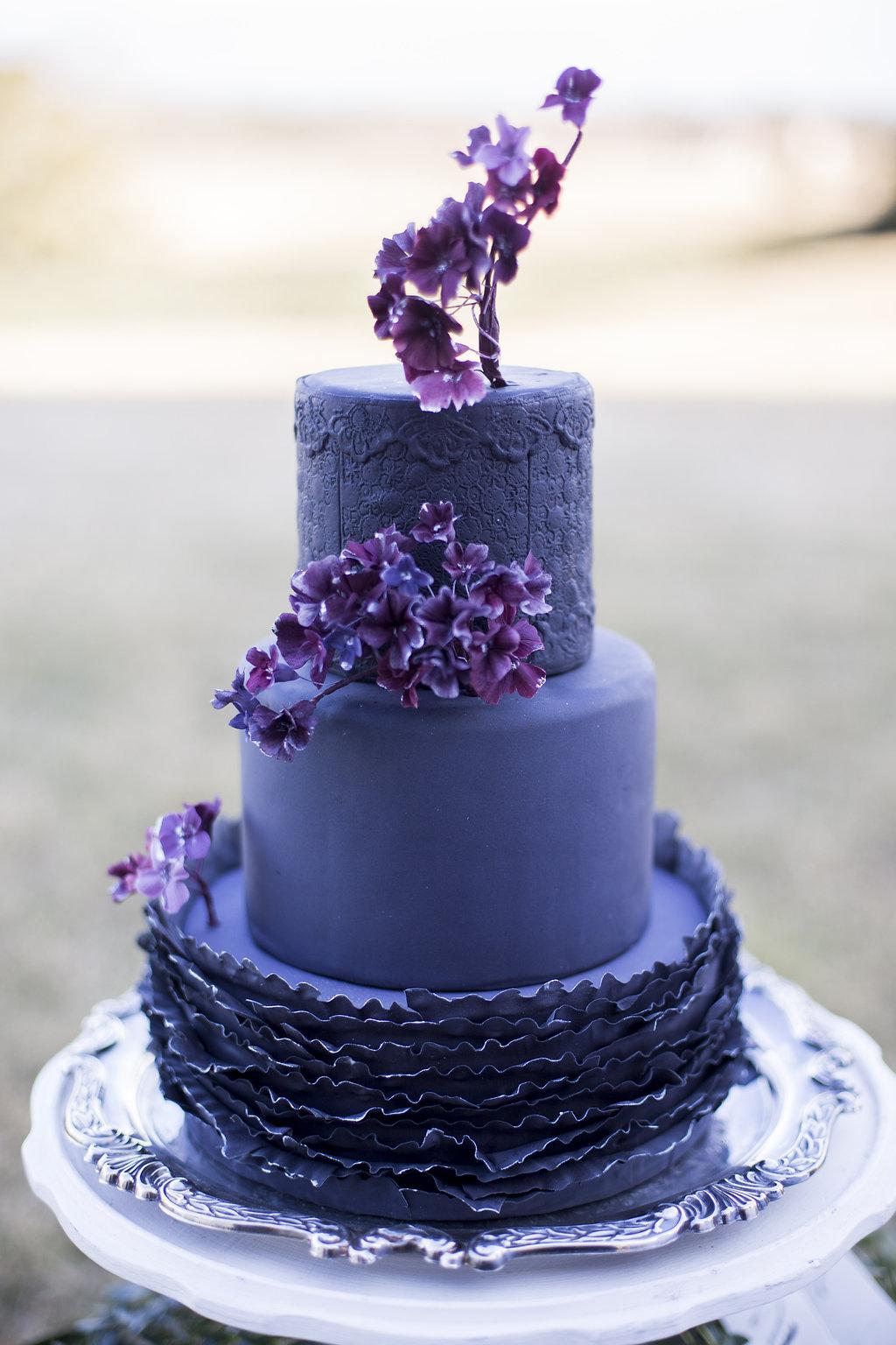 Deep Purple Wedding Cake Elizabeth Anne Designs The