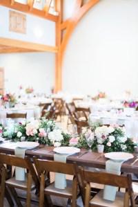 Wedding Centerpiece on Farmhouse Table - Elizabeth Anne ...