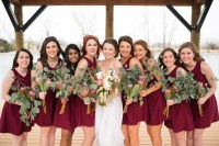 Garnet Bridesmaids Dresses - Elizabeth Anne Designs: The ...