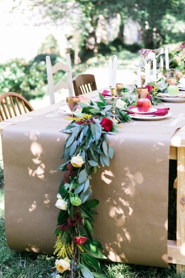Kraft paper Tablecloth  Elizabeth Anne Designs The