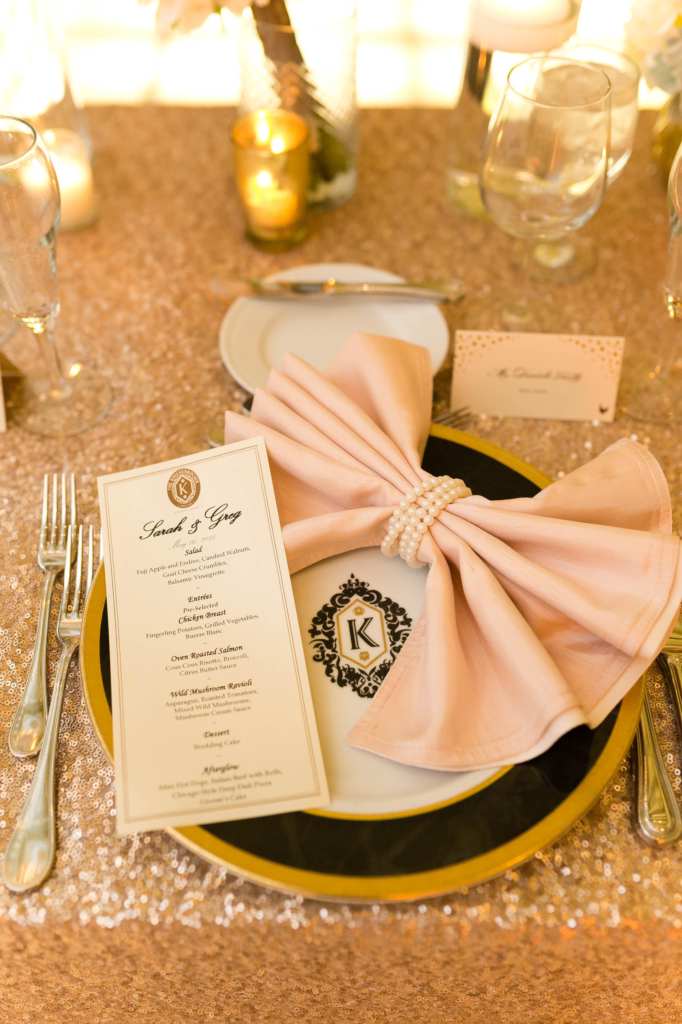 Pink Bow Napkin Fold  Elizabeth Anne Designs The Wedding