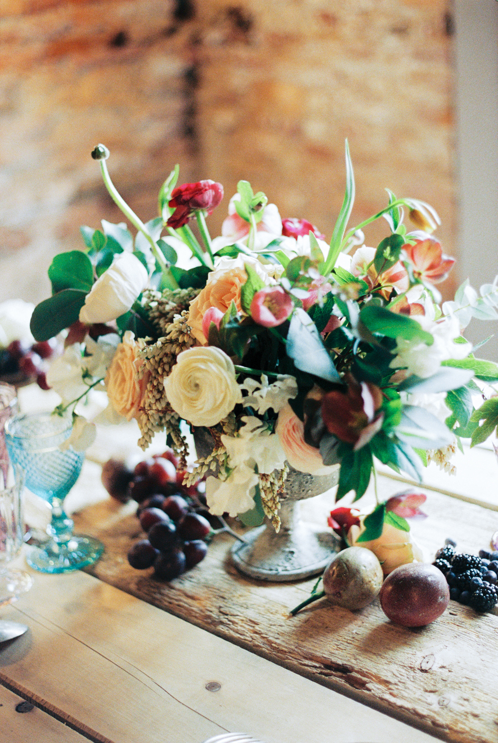 Dark Fall Wedding Color Centerpiece  Elizabeth Anne Designs The Wedding Blog
