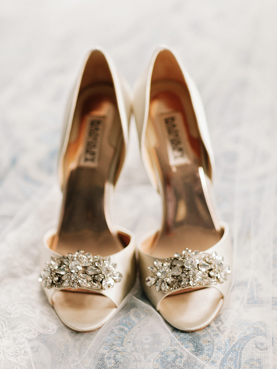 Gold Badgley Mischka Shoes  Elizabeth Anne Designs The