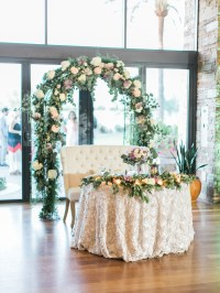 Sweetheart Table with Greenery Arch - Elizabeth Anne ...