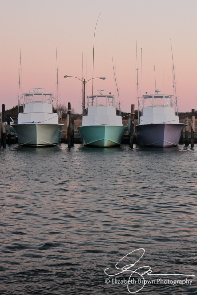 Charter Boats at the Oregon Inlet Fishing Center, Nags Head, NC
