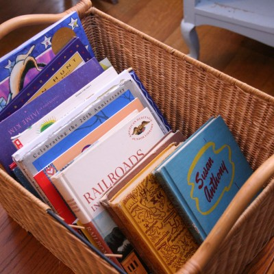Helpful Homeschool Habit:  Implementing a Book Basket