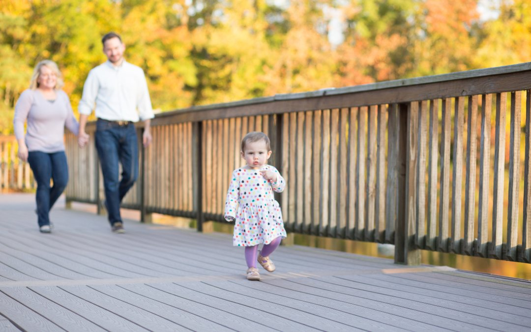 Family session at Three Lakes Park in RVA