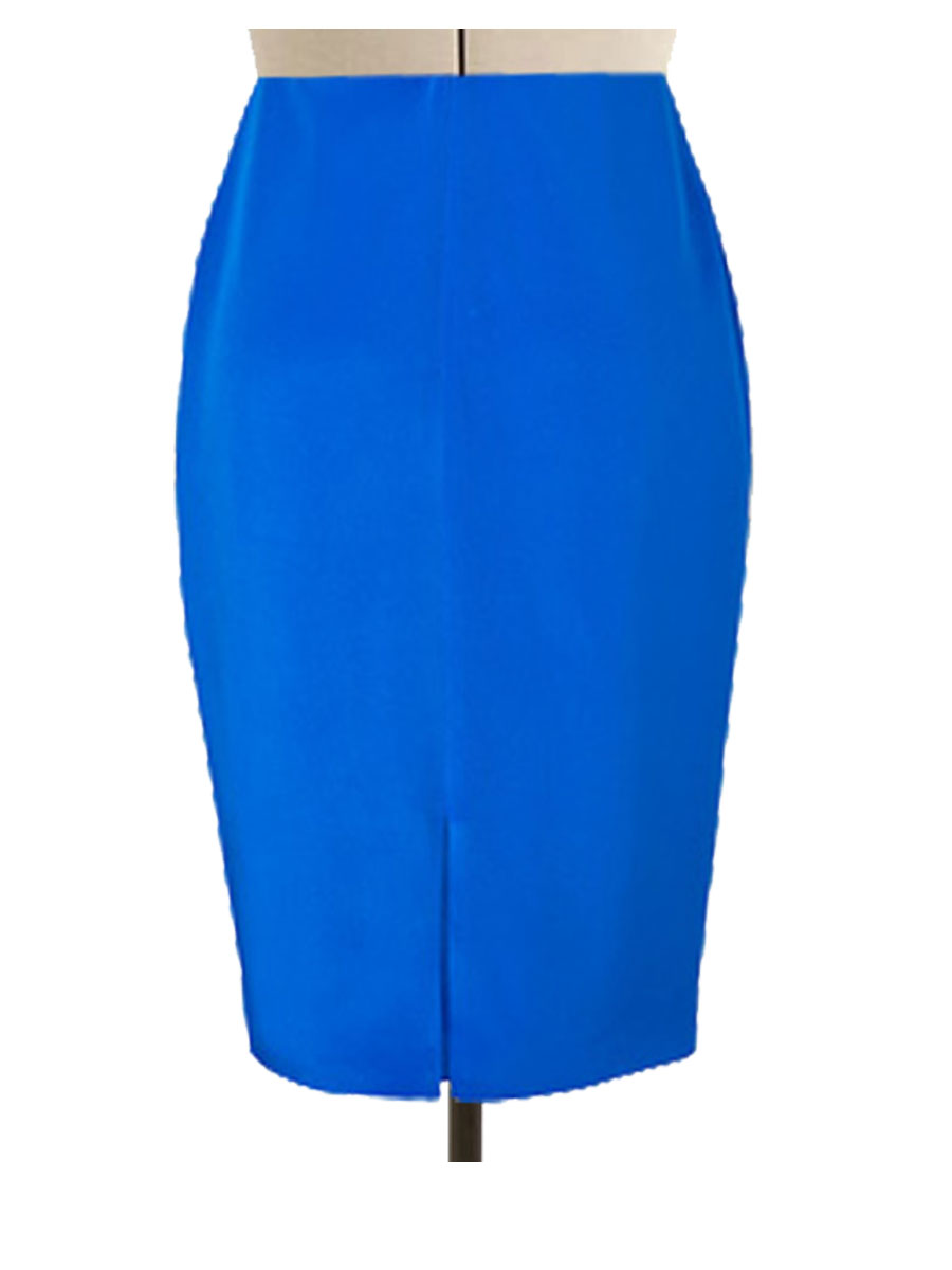 Sky Blue pencil Skirt  Elizabeths Custom Skirts