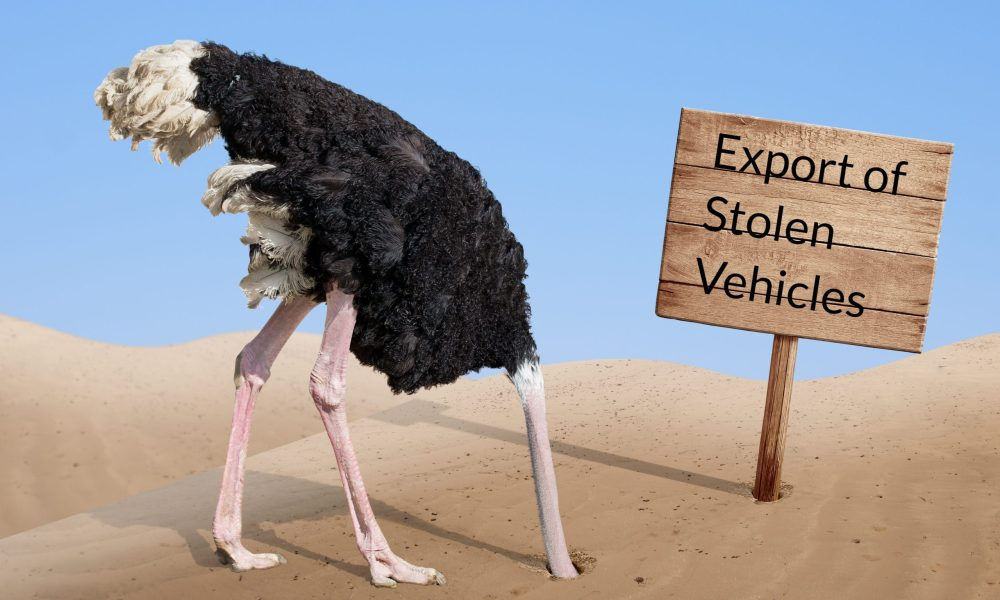 export of stolen vehicles