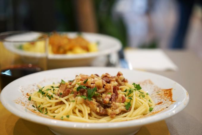 Spaghetti and Pancetta