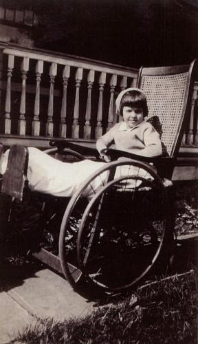 1930 Mom in wheelchair