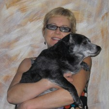 Elizabeth Montague with her dog Zela in Culver City 2012