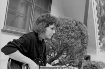 elizabeth montague with bass guitar 1984