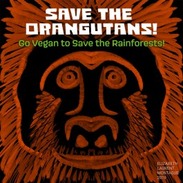 Save the Orangutans! Go vegan to save the rainforests!