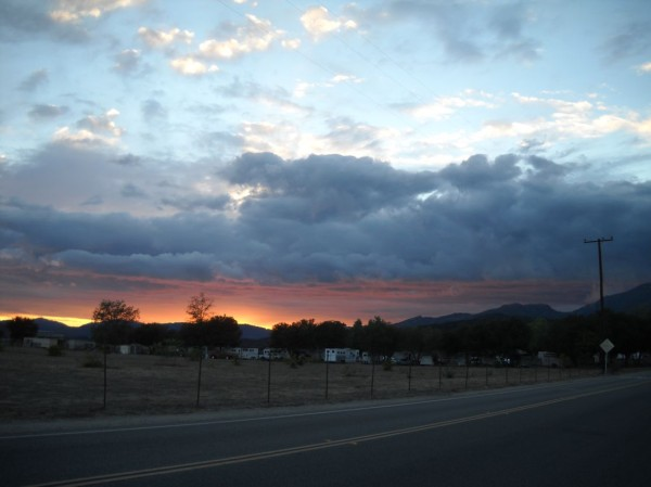 Elizabeth Montague photos of stormy clouds at sunset.