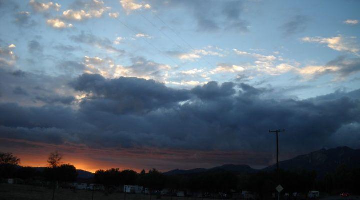 Rain Clouds at Sunset in Ojai