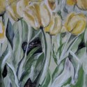 Acrylic Painting Dancing Tulips