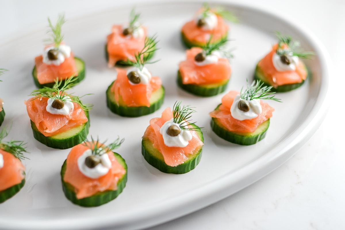 elegant healthy smoked salmon