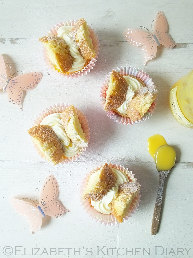 Orange Curd Butterfly Fairy Cakes Elizabeths Kitchen Diary