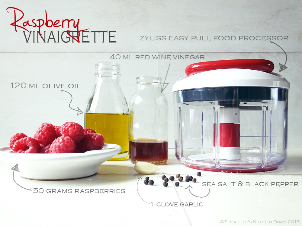 Raspberry Vinaigrette Recipe with the Zyliss Easy Pull Food Processor